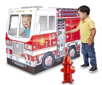 Melissa and Doug Cardboard Fire Truck