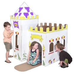 Medieval Cardboard Playhouse